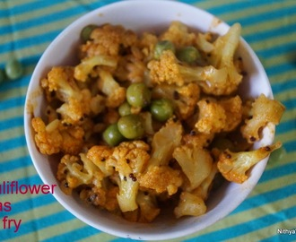 CAULIFLOWER PEAS STIR FRY