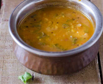 Brahmi Leaves / Vallarai Keerai Sambar - Herbal Green Leaf Recipes