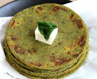 Palak Tofu Paratha  l  Indian Flatbread with Spinach and Tofu  l  Iron Protein rich bread