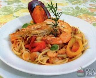 Receita de Linguine com frutos do mar
