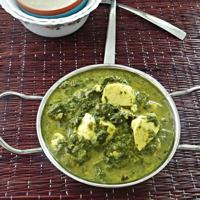 Palak paneer recipe – Spinach with Indian cottage cheese (paneer)