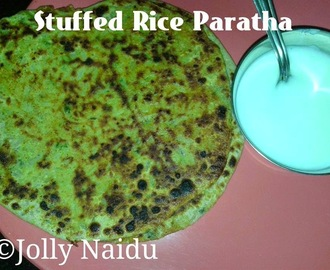 Stuffed Rice Paratha | Left-over Rice Paratha Recipe