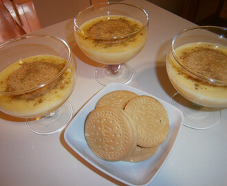 Natillas caseras.