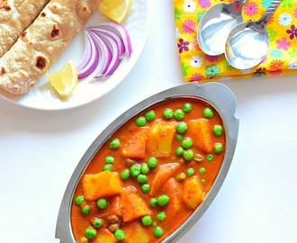 Aloo Matar Recipe |Aloo Mutter Recipe ( Potato peas gravy) ~ No onion No garlic Recipes