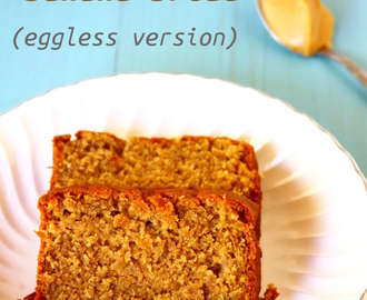 Eggless Peanut Butter Banana Bread