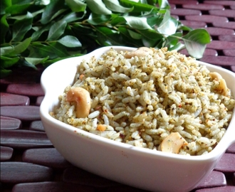 Curry Leaves Rice Recipe / Karuvepillai Sadam