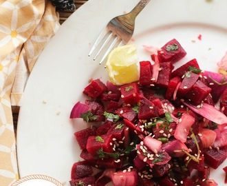 Simple Indian Beetroot Salad Recipe