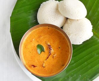 Red Coconut Chutney For Idli and Dosa (Kerala Style)