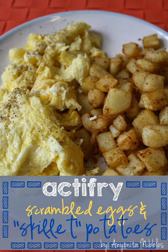 "Actifry Scrambled Eggs & ""Skillet"" Breakfast Potatoes Recipe"
