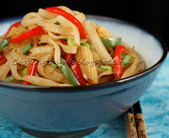Vegetarian Spicy Thai Drunken Noodles (Pad Kee Mao)