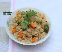 Broken wheat/dalia upma recipe
