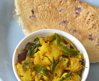 Simple south Indian style potato sabzi (For Dosa)