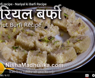 Coconut Barfi Recipe Video