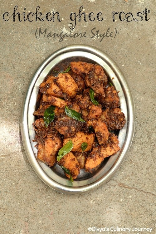 Chicken Ghee Roast Recipe - Mangalore Style | Spicy Chicken Roast recipe