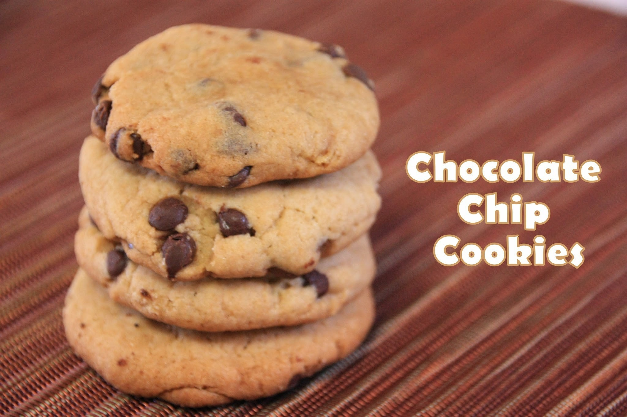 Chocolate Chip Cookies - Whole Wheat & Eggless