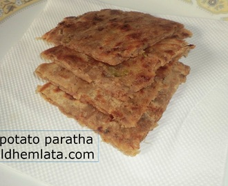 shakarkandi/sweet potato stuffed paratha