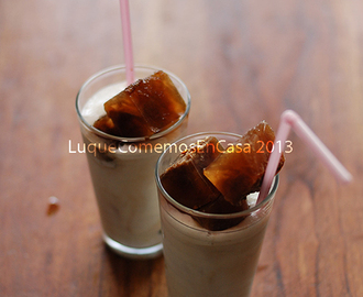 milk with frozen coffee