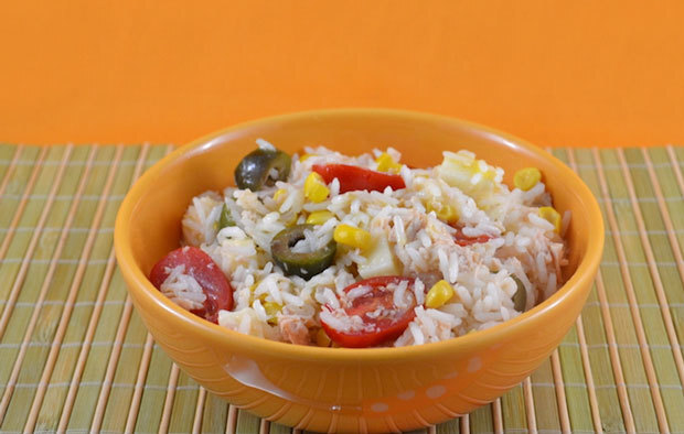 Salade de riz au thon Weight Watchers