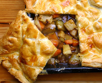 vegetable stew pie - feeding the masses