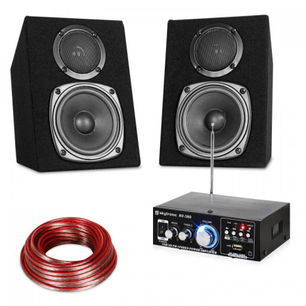 Hifi Stereo Sound Set USB SD MP3 - 30 Watt