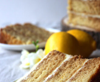 Vegan Lemon Curd Cake