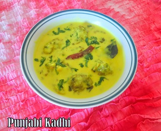 Punjabi Kadhi(chickpea flour dumplings in yogurt based gravy)