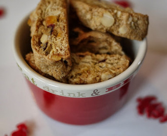 Christmas Almond, Orange and Pistachio Biscotti