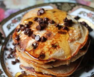 Whole Wheat & Oatmeal Pancakes Recipe / Oats Pancakes Recipe
