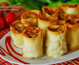 FINGERFOOD ΚΙΜΑΔΟΠΙΤΑΚΙΑ  ♦♦  FINGERFOOD ROTOLINI DI CARNE TRΙTA IN PASTA FILLO