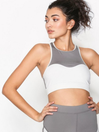 NLY SPORT Pocket Sports Bra Sport BH Light Support Grå