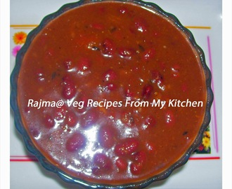 Rajma Masala(Red Kidney Bean Curry)