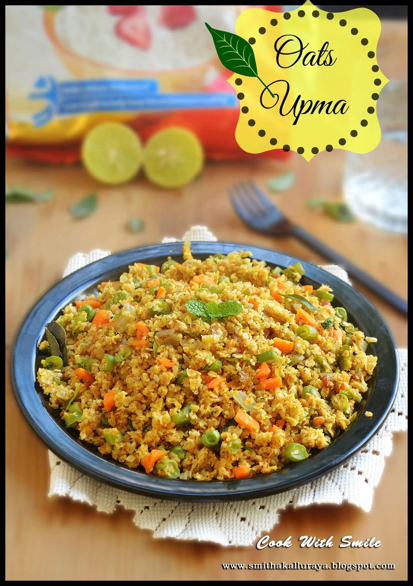 OATS UPMA / INSTANT VEGETABLE OATS UPMA RECIPE