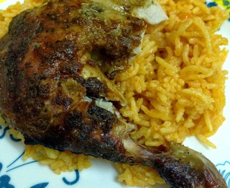 Roast Chicken with Arabic Rice