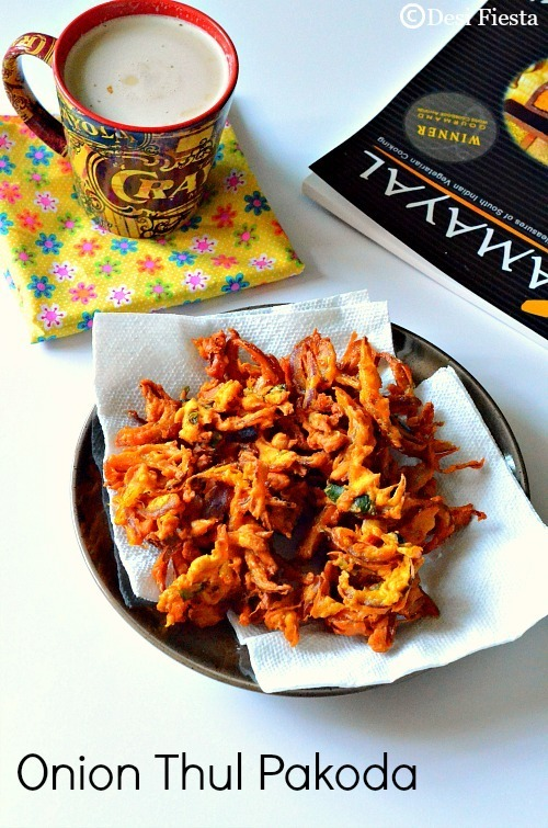 Onion Thul Pakoda Recipe |Crispy Onion Pakoda/ Pakoras ~Tea Time snacks