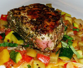 Tuna with Ratatouille