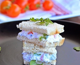 Greek Yogurt and Vegetable Sandwich