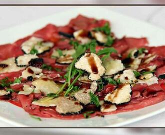 Carpaccio av oksefilet