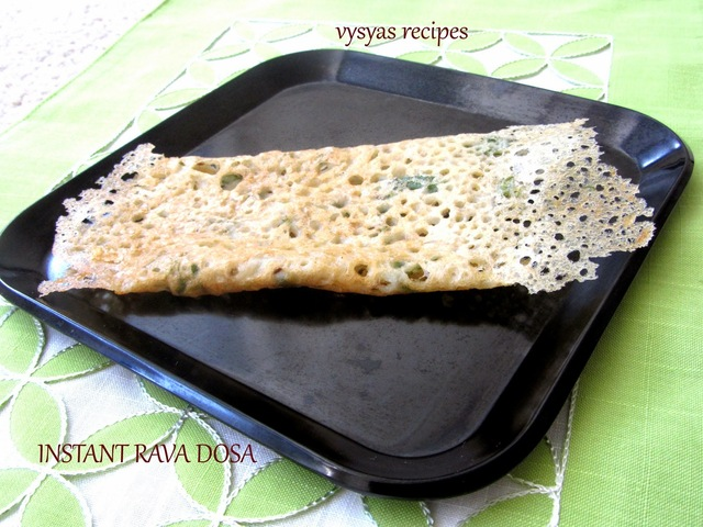 Instant Rava Dosa  Recipe - Easy Rava Dosa Recipe