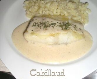 Cabillaud sauce moutarde & citron