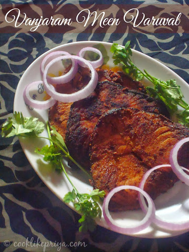 Vanjaram Meen Varuval | King Fish Fry Recipe | South Indian Fish Fry Recipe