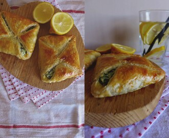 Folhados de espinafres e queijo/ Spinach and cream cheese pastry