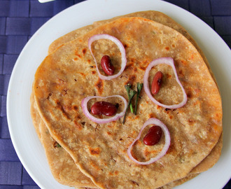 Rajma Cheese Paratha - Rajma cheese stuffed Chapathi - Simple healthy stuffed paratha recipe - Kids friendly recipe - No Onion no Garlic recipe