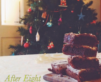 After Eight Brownie - The perfect Christmas treat.