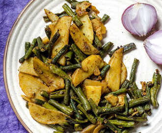 Aloo Beans Sabzi / Easy Potato & Green Beans Stir-fry Recipe