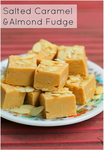 Super Easy Salted Caramel and Almond Fudge