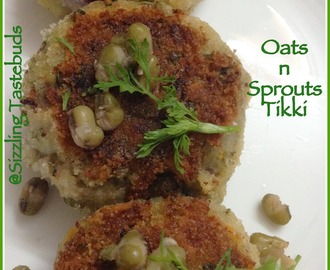 Oats Sprouts Tikki - Diabetic special recipe