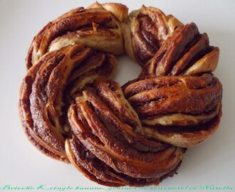 Brioche kringle banane, graines de tournesol et Nutella