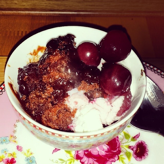 Things I have been cooking lately #61: Self-saucing chocolate cherry pudding