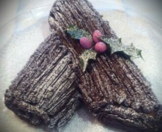 Mary Berry inspired Christmas Chocolate Log