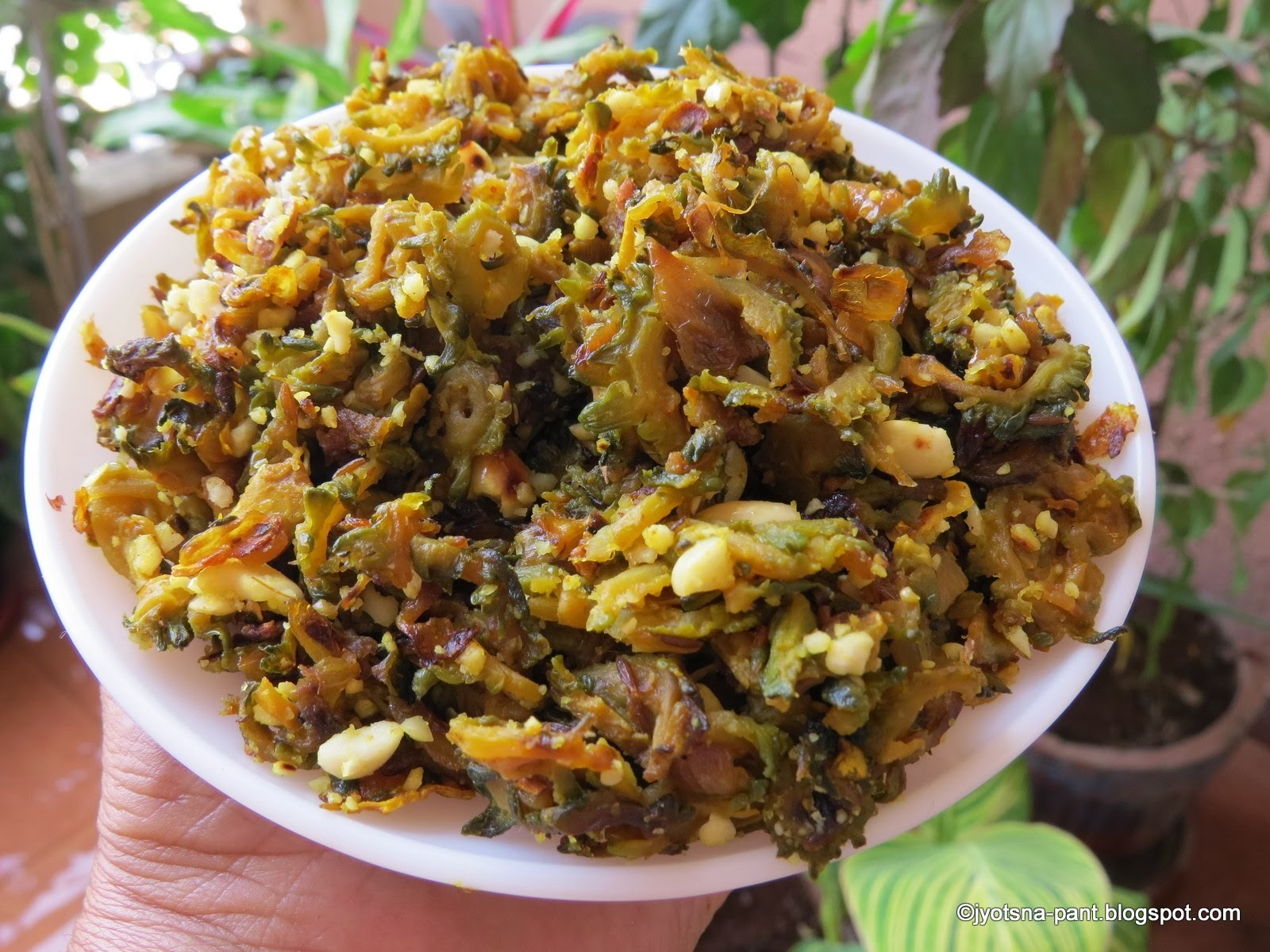 Karela Ki Sabji (Indian Savory of Bitter Gourd)